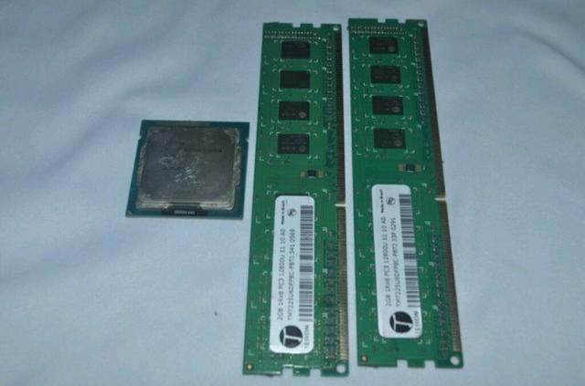Processador Pentium + 2 memórias ram ddr3 de 2gb cada