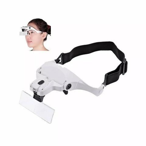 Lupa Cabeça Oculos Profissional Aumento Estetica Leitura Luz