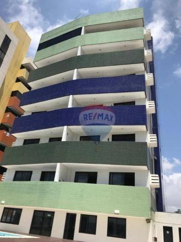 Apartamento com 1 dormitório à venda, 41 m² por r$ 230.000,00 - ponta negra - natal/rn