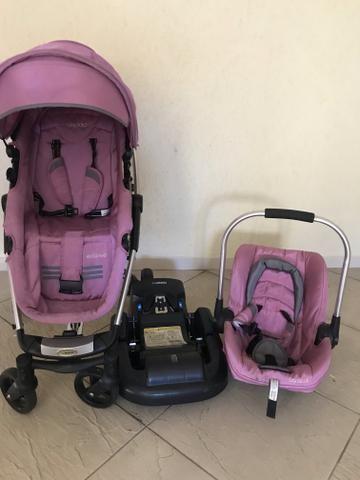 Kit carrinho e bebê conforto Kiddo