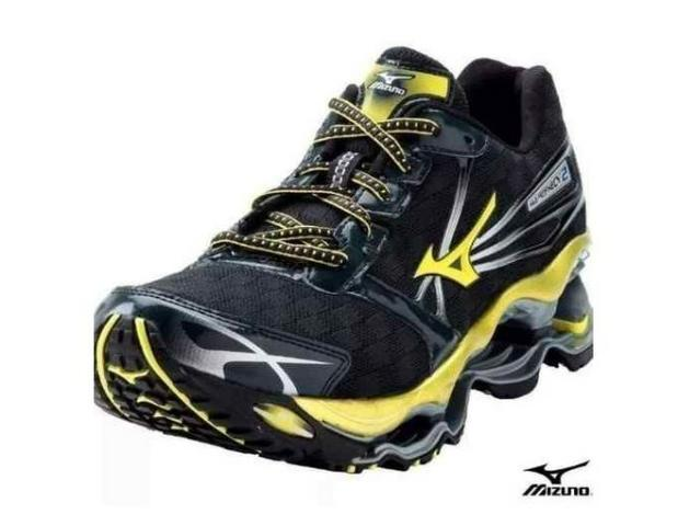 uk availability 21d1f 9284b Tênis Mizuno Wave Prophecy 2 Masculino Original Preto E Amarelo Nº 42