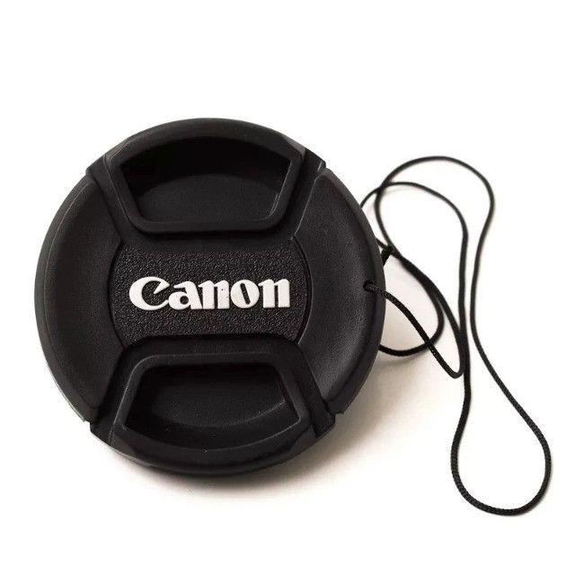 Tampa Canon Para Lente Objetiva 18-55mm T3i T4i T5i T6i - Ø 58mm 58 mm Diâmetro - Foto 4