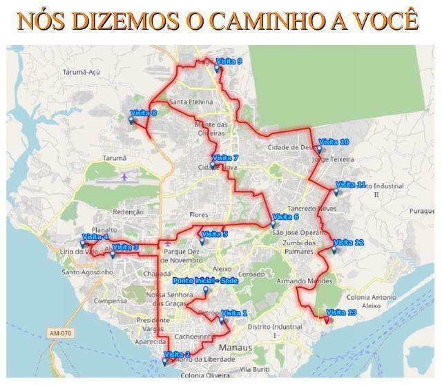 Criação de rotas para múltiplos destinos - Foto 3