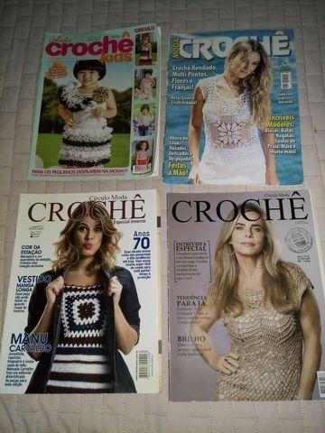Revistas de crochê variadas