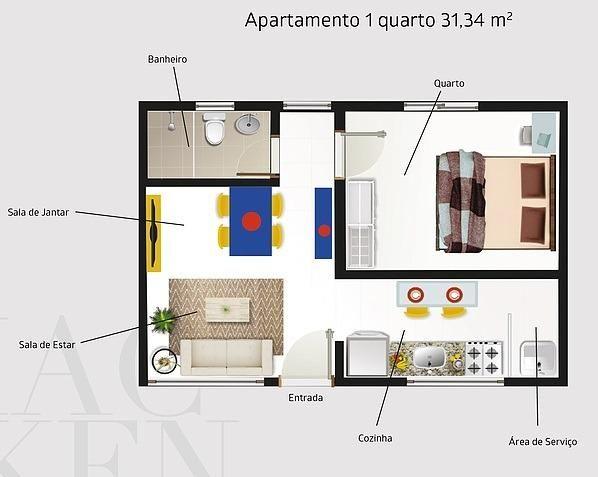 Apartamento novo de 1 ou 2 quartos ideal para estudantes da Uninovafapi - Foto 3
