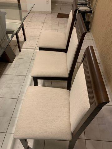 Conjunto de Mesa e Cadeiras, para sala de jantar, 8 lugares, Venus Castanho Nobre - Foto 4