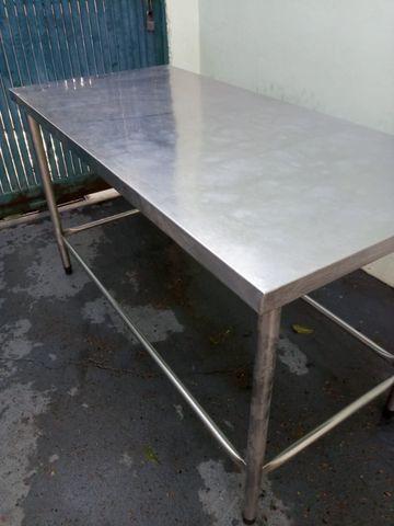 Mesa Bancada Inox Apoio 1,50mts - Foto 4