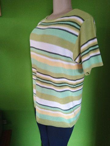 Blusa/Camisa Linha & Cores - G - Foto 2