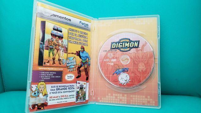 Box De Dvds Digimon Volume 1. Usado. Em Perfeito Estado! - Foto 4
