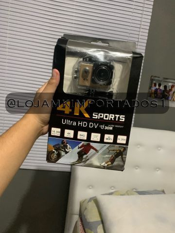 Câmera Go pro 4k Wi-Fi com suporte para capacete