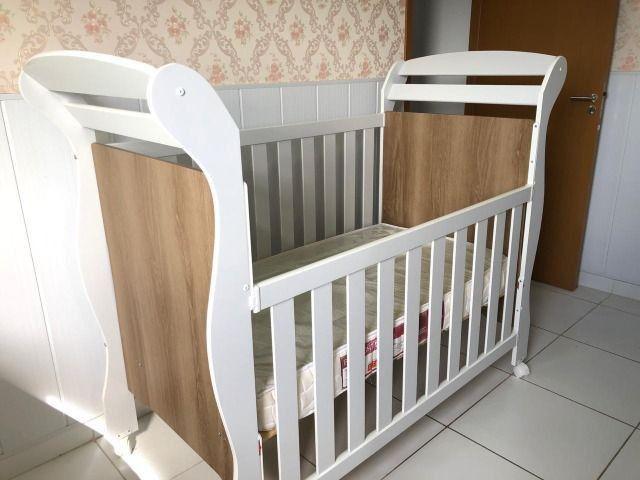Berço mini cama Reller + colchão - Foto 3