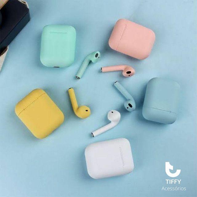 Fone de ouvido sem fio I12 cores inéditas bluetooth. ENTREGA RÁPIDA! - Foto 5
