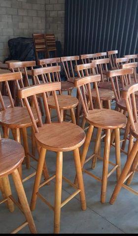 Banqueta de madeiras na mega promoção na loja (31)33545975 - Foto 4