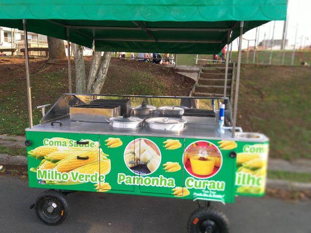 Carrinho de milho verde curau e pamonha  novo personalizados  - Foto 2