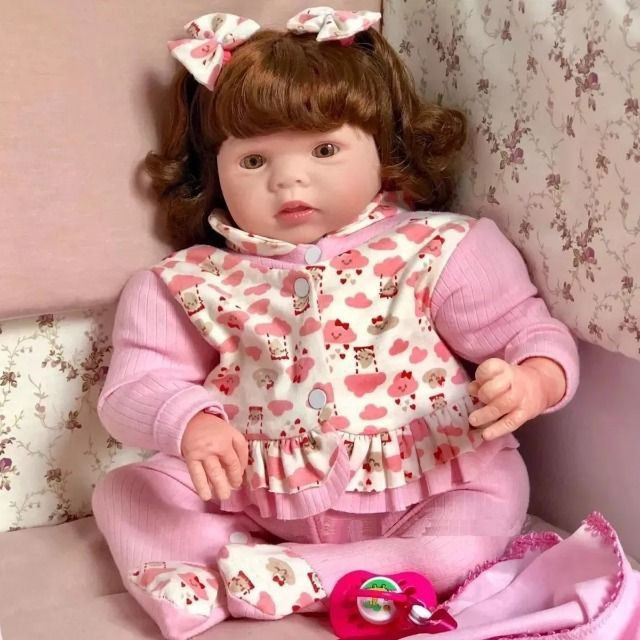Bebe Reborn Realista Articulada e Pesada Igual Bebe de Verdade - Foto 4
