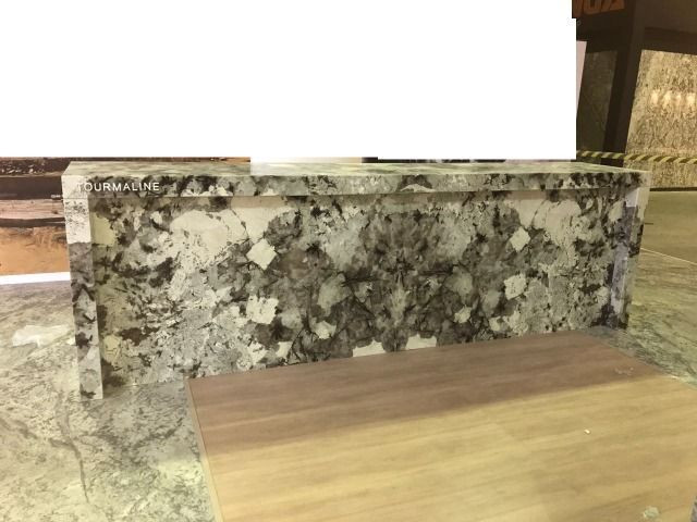Balcão em Granito Exótico Translúcido Semi Precioso Tourmaline - Foto 4