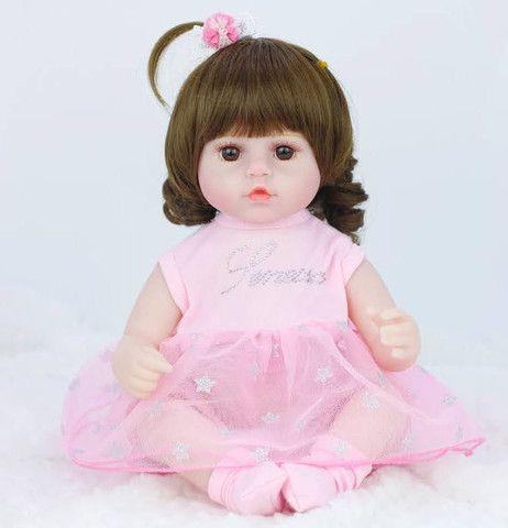 Boneca bebê Reborn Menina realista a pronta entrega - Foto 3