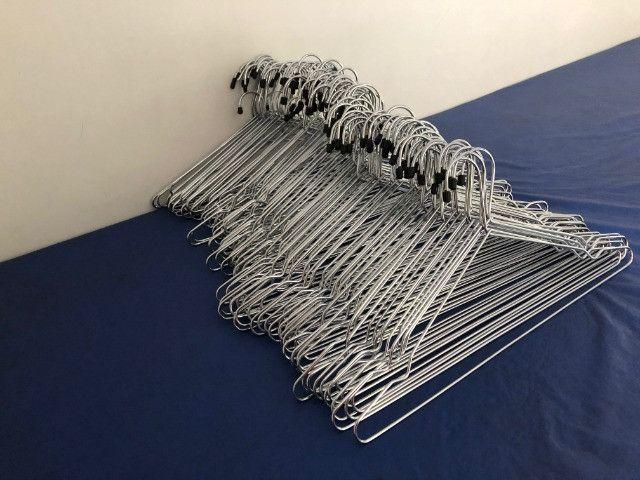 Lote de cabides de metal cromado - Foto 3