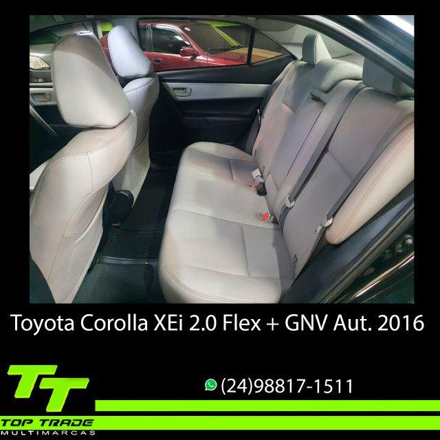 Toyota Corolla XEi 2.0 Flex + GNV Automático 2016 - Foto 8