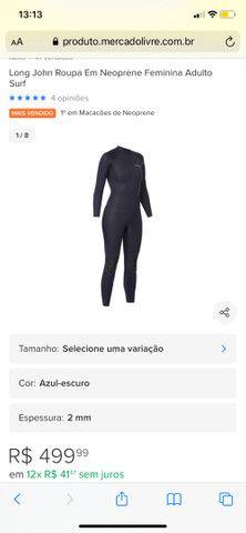 Roupa de surf/mergulho feminina