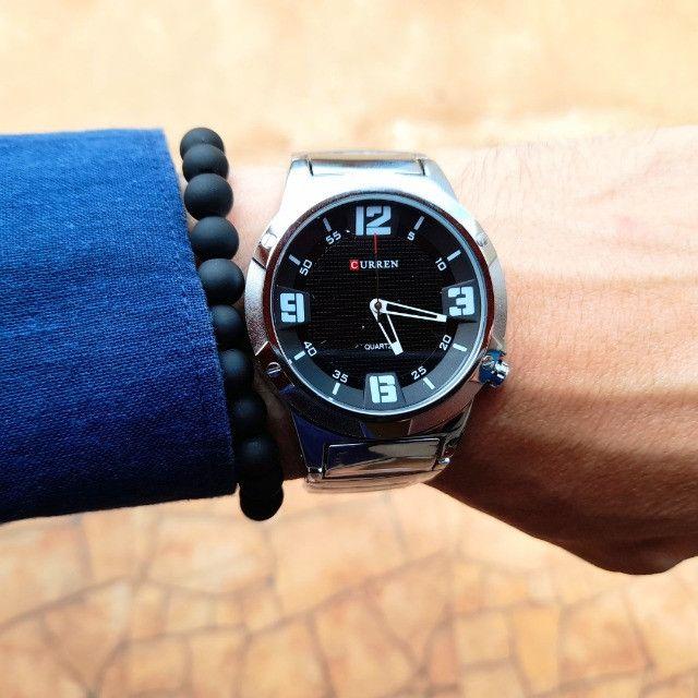 Relógios Curren 8111 Branco e Preto Resistente á água Analógico - Foto 4