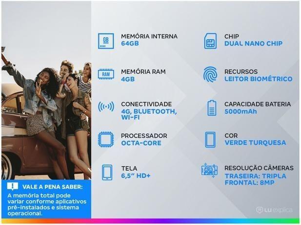 Smartphone Motorola Moto G9 Play 64GB Verde  - Foto 3
