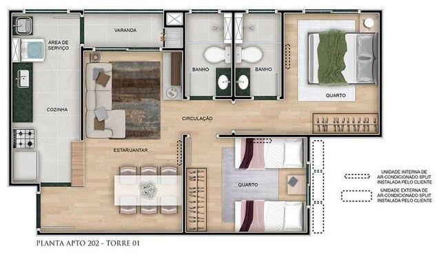 Apartamento à venda Jardim Carvalho - 2 dormitórios com suíte e sacada! - Foto 6