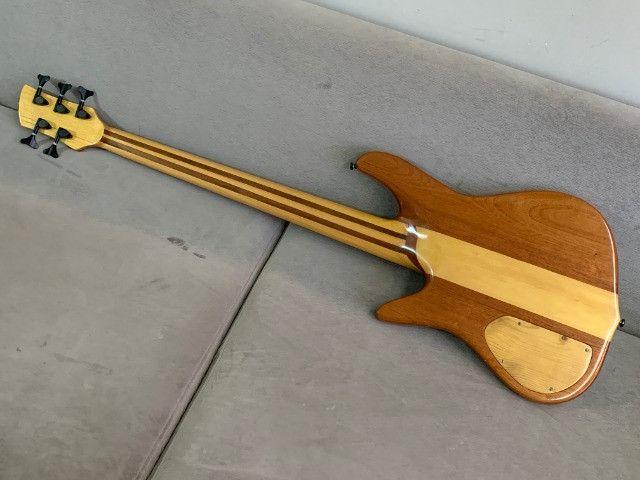 Baixo Fodera Emperor 5 de Luthier. Fantástico, lindo. Recebo o seu usado como parte - Foto 5
