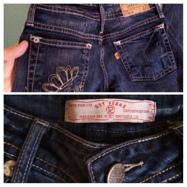 3 calças 12 anos usadas p/ menina (legging , jeans e malha) - Foto 5