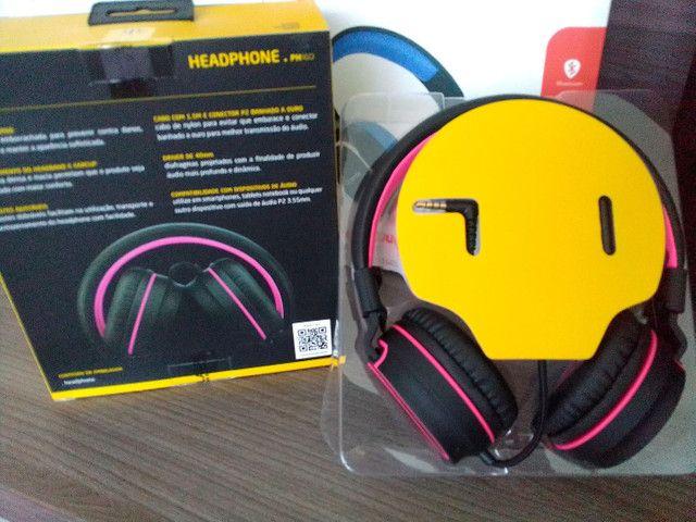 Headphones bluetooth com fio novo na caixa