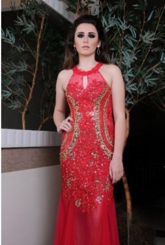 Vestido Pedraria Rosa - Tam P/M