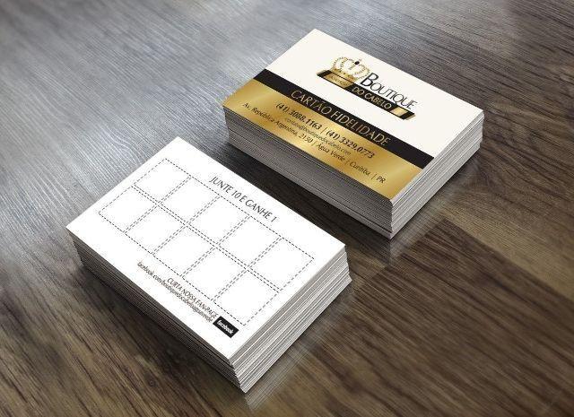 Cartão Fidelidade 1000 (Mil) unidades Criação da Arte Inclusa Preço Espetacular