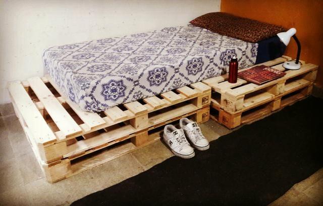 Cama Box Pallet Solteiro ou Viuvo