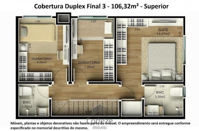 Cobertura duplex 3 quartos no Água Verde - Foto 15