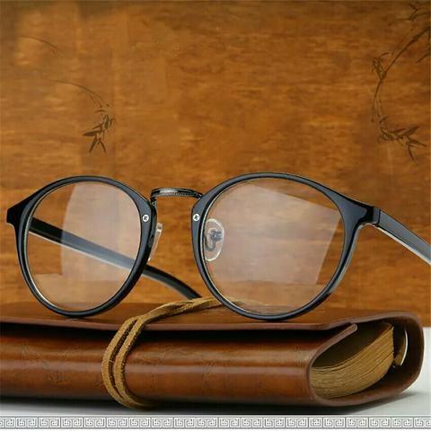 Armação de óculos grau redondo vintage unissex - Bijouterias ... 4696ee1ecd