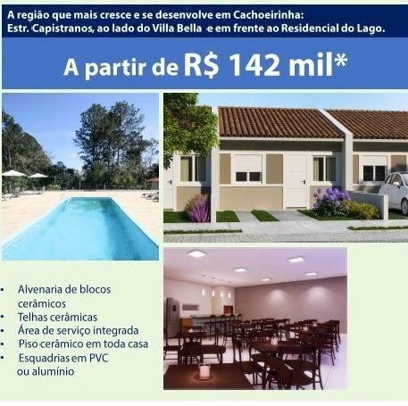 Mais em Conta Casa de Condomínio de Cachoeirinha, 2 dormitórios, 2 vagas para carro, infra - Foto 2