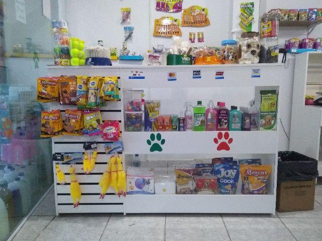 Balcão Vitrine com Vidro para loja de Pet Shop com Frete Grátis Direto da Fabrica - Foto 3