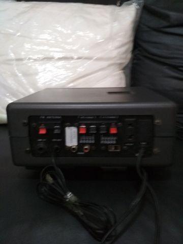 Receiver (Amplificador e Rádio) de 80 W Rms ou 8.000 Pmpo com duas caixas de som CSR - Foto 3