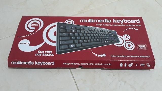 Vendo teclado com fio para pc novo