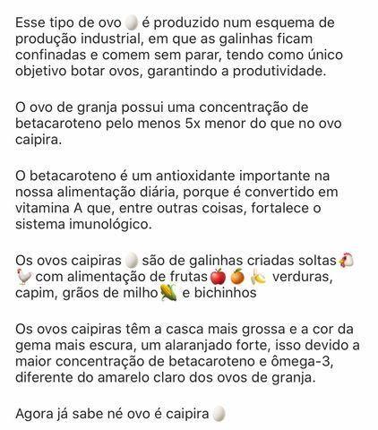 Ovos caipira; Granja Caipira Maria Bonita - Foto 2
