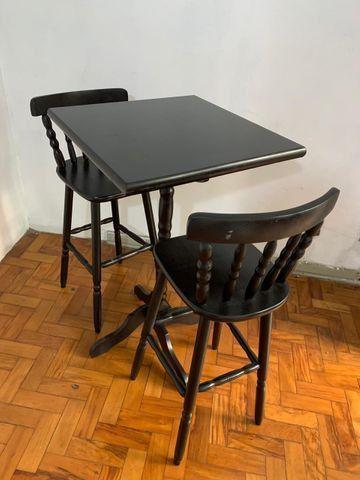 Mesa Bistrô - 2 Cadeiras de Madeira - Foto 3