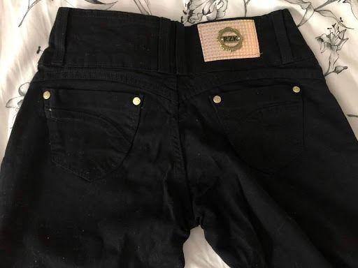 Calça Jeans Skinny Tam 36 Preta - Foto 4