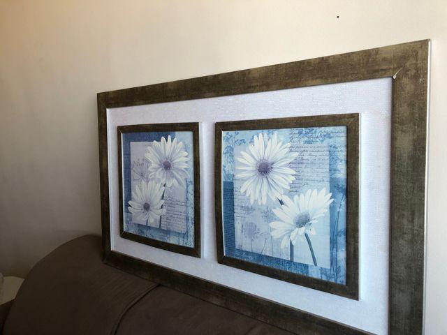 Quadro vintage flores brancas - Foto 4