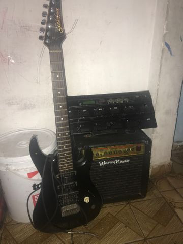 Guitarra caixa e pedaleira - Foto 2