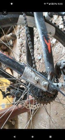 Vendo Bike Mônaco Quadro de alumínio. Aceito cartão!!! - Foto 3