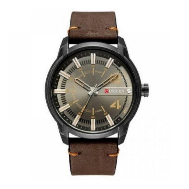 Relógio Marca Curren 8306 [Novo] Marron e Preto Analógico