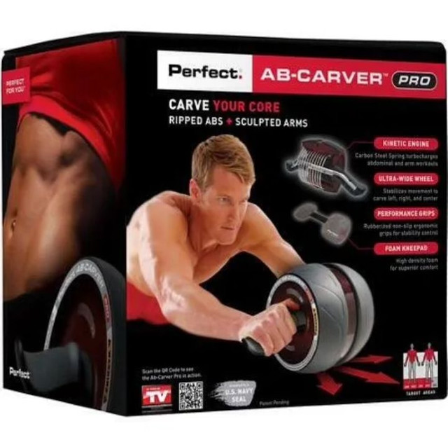 AB CARVER- Roda Abdominal Fitness Cintura Abdômen<br> - Foto 4