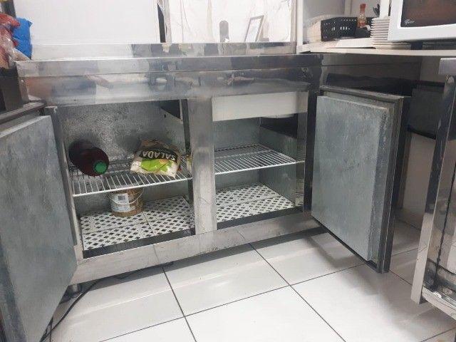 Condimentadora Balcão Refrigerado Semi Novo - Foto 5