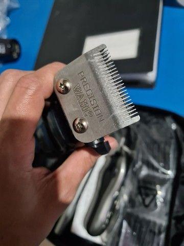 Máquina de cortar cabelo wahl groom deluxe pro barbeiro salão curso - Foto 6