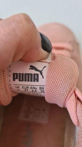 Tênis puma rosa casual - Foto 3
